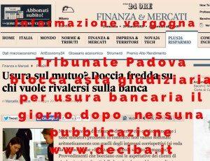 tribunale padova finanza e mercati